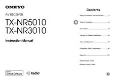 Onkyo Integra TX-NR5010 Receiver Owners Instruction Manual