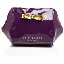 NEW Ted Baker Rochel Extra Large Trapeze Bow Wash Makeup Cosmetic Bag Purple NWT