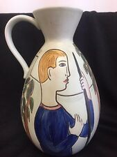 RORSTRAND SWEDEN VINTAGE MAN WOMAN ADAM EVE  DOVE PITCHER POTTERY