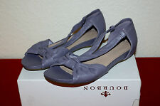 GORGEOUS M & S FOOTGLOVE UK 7 EU 40.5  LEATHER LADIES LOW WEDGE SUMMER SANDALS