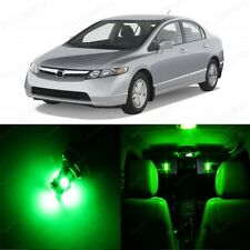 8 x Green LED Lights Interior Package For Honda CIVIC 2006 - 2012 Coupe Sedan