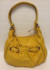 B Makowsky Hobo Bag Yellow Mustard Leather Handbag
