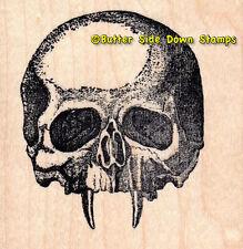 Vampire Skull Hallween Monster Mounted Rubber Stamp