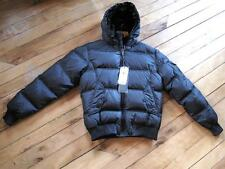Bomboogie Mens Black  100 % Down,Feather ,Puffer jacket size Small.
