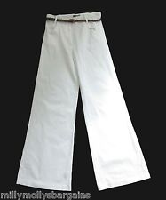 New Womens White Lipsy Trousers Size 10 DEFECT ELECTRONIC TAG STILL ATTACHED