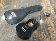 Mahalo Rainbow Black Soprano Ukulele Uke Fitted With Aquila Strings & Gig Bag