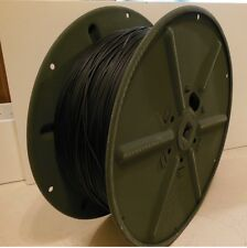 NEW in/Box Military Radio Field Telephone Cable Phone Wire Reel 1.8 kilometers
