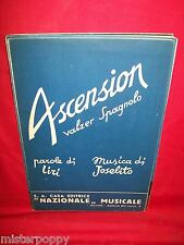 JOSELITO Ascension (Valzer Spagnolo) 1941 Spartito Sheet Music