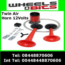 12V CAR VAN AIR HORN TWIN DUAL TONE VERY LOUD WITH RELAY & KIT FOR BMW