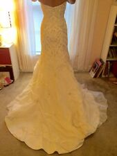 Ivory Wedding Mermaid Gown, Size 4, Midnight Majesty, Style 1871
