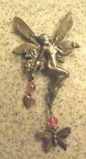 HUGE and Amazing Kirks Folly Fairy and rhinestone brooch