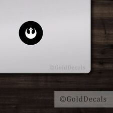 Rebel Alliance - Mac Apple Logo Laptop Vinyl Sticker Macbook Decal Star Wars