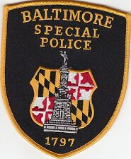 BALTIMORE SPECIAL POLICE SHOULDER PATCH MARYLAND MD