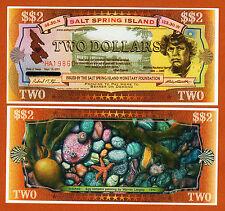 Salt Spring Island (Canada) Two Dollar 2001 UNC