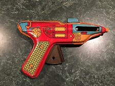 Vintage 1955 J. Chein Co. Sheriff Space Ray Gun Tin Litho Friction Sparking RARE