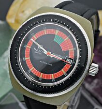 Vintage TISSOT Sideral S Automatic Fiberglass Colorful 39mm Diver's Watch L8