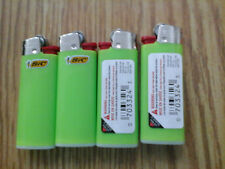 4 MINI BIC LIGHTERS made in france 1102 baby green