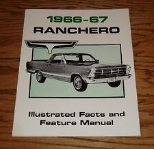 1966-1967 Ford Ranchero Illustrated Facts Feature Manual 66 67