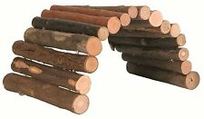 Wooden Bendy Tunnel Bridge Hide-Out Cave for Hamsters Gerbils Mice 22cm (4007)