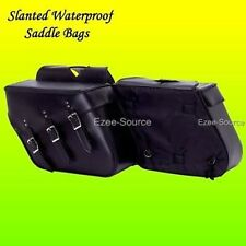 HARLEY SPORTSTER 1200 XL 883 HARD WATERPROOF SLANTED SADDLE BAGS SET LARGE 18""