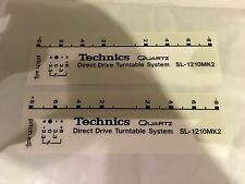 Technics Sl1200 / 1210 Custom Deck Decals - Pimp - Mod - Sticker Kit