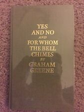 Yes And No AND For Whom The Bell Chimes, Graham Greene, Signed Limited Edition