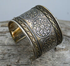 Silver antique finish, Metal, Adjustable , Cuff Fashion Bracelet