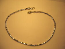 Necklace Bali Byzantine 925 Sterling Silver 4.7 mm Thick 20.5 in Long 54.5 grams