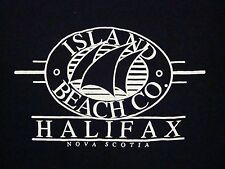 Vintage Island Beach Co. Halifax Nova Scotia Canada Sailing Tourist T Shirt L