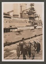 "[56649] 1941 HOFFMANN PHOTO CARD SHOWING REVIEW OF SMS ""SCHLESWIG-HOLSTEIN"""