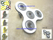 bi-Color Tri-Spinner Fidget Toy Acrylic EDC Hand Finger Spinner Desk Focus