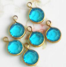 #1339 Vintage Aqua Raviol Drops Dangles Channels Drop Acrylic Findings Aqua Blue