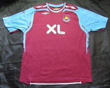 WEST HAM UNITED home shirt jersey UMBRO 2007-2008 Hammers /adult SIZE XXXL/3XL