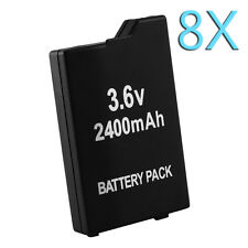 8X 2400mAh 3.6V Rechargeable Li-ion Battery Pack for Sony PSP SLIM 2000 3000 New