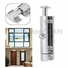 4 inch Door Window Security Bolt Lock Latch Button Open Spring Chrome Plated