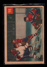 1954-55 PARKHURST #98 PLANTE PROTECTS AGAINST SLOAN VG F1811