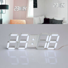 Modern USB 3D Digital LED Home Wall Clock Timer 24/12 Hour Display Alarm Clock