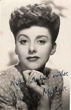 ANNE CRAWFORD AND PAMELA MATTHEWS PAIR OF ORIGINAL SIGNED AUTOGRAPH PHOTOS