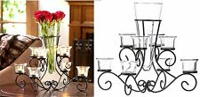 Magnificent! ** SCROLLWORK CANDLEHOLDER STAND WITH VASE CENTERPIECE ** NIB