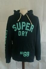 Superdry™ men's navy blue hoodie with green graphics ***22w 29l medium***