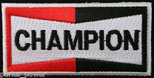 Champion Embroidered Iron on Patch, Spark plug, automotive, motorcycle, scooters