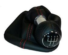 SCHALTKNAUF Alu + SCHALTSACK SCHALTMANSCHETTE passend für Audi A3 S3 8P  /5G/Rot