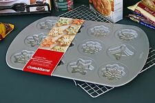 CRATE & BARREL SNOWFLAKE COOKIE PAN -A FLURRY OF BAKING ACTIVITY- BUY MORE SAVE