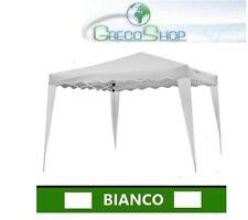 Gazebo per Fiere/Mercatini pieghevole impermeabile in alluminio 3x3m Bianco