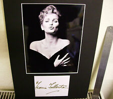 FIONA FULLERTON SEXY BUSTY  AUTHENTIC SIGNED AUTOGRAPH MOUNTED DISPLAY UACC