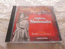 GRANDI VOCI ALLA SCALA GIULIETTA SIMIONATO 1995 ITALIAN MADE IN ITALY CD
