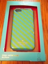 Kate Spade Dual Layer Case for iPhone 5c Blue/Green Striped
