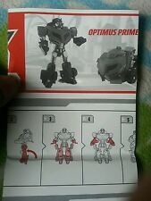 Transformers ANIMATED VOY. OPTIMUS PRIME INSTRUCTION BOOKLET