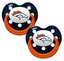 Denver Broncos Pacifiers 2 Pack Set Infant Baby Fanatic BPA Free NFL