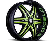 26 inch 26x10 DIABLO ELITE G2 Black Green wheel rim BLANK +15